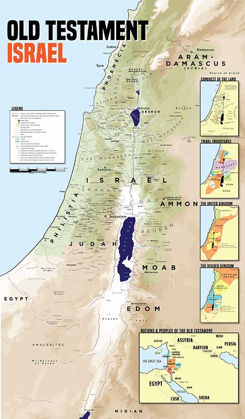 Home Giant Bible Maps - Map of old testament israel
